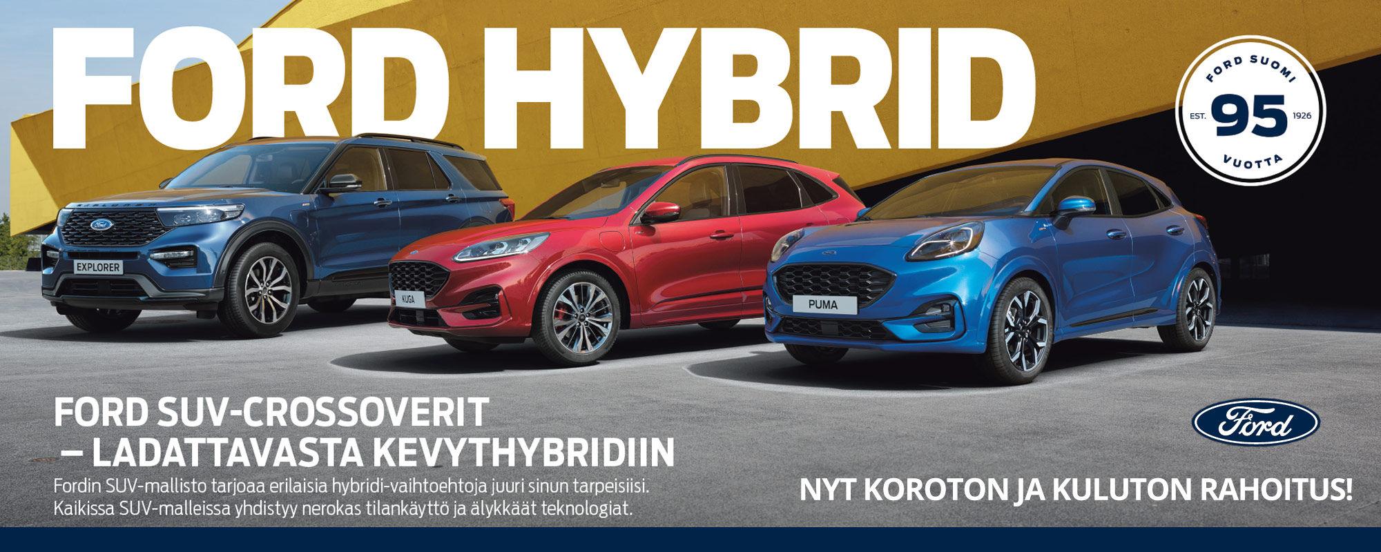 Ford Suv-crossoverit - Ladattavasta kevythybridiin