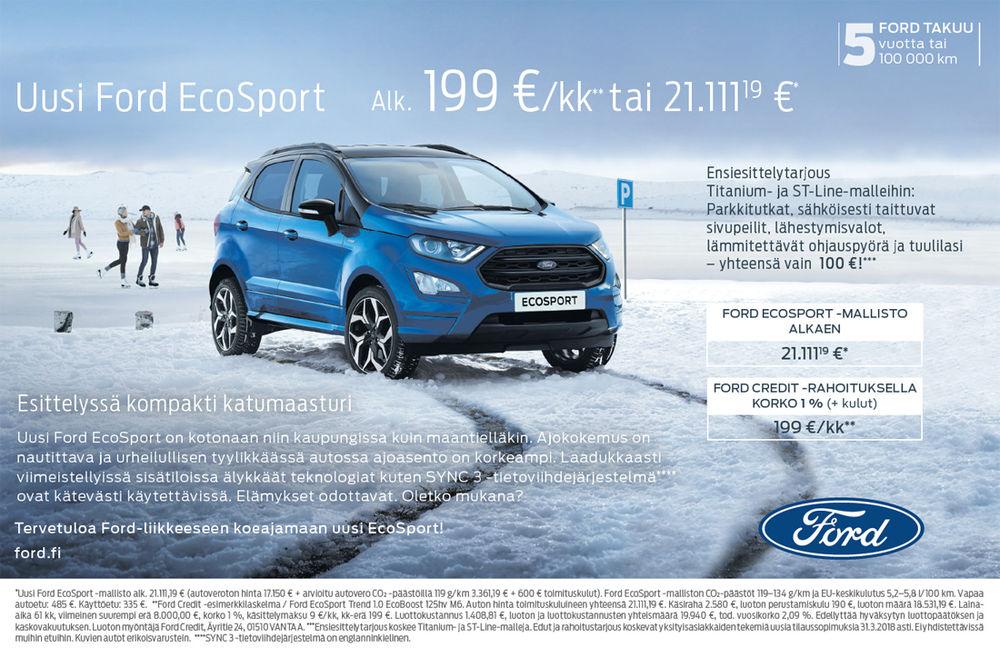 Nyt ensiesittelyssä Ford Ecosport!