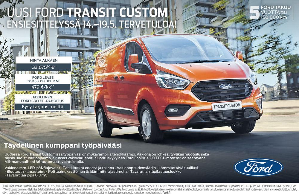 Uusi Ford Transit Custom