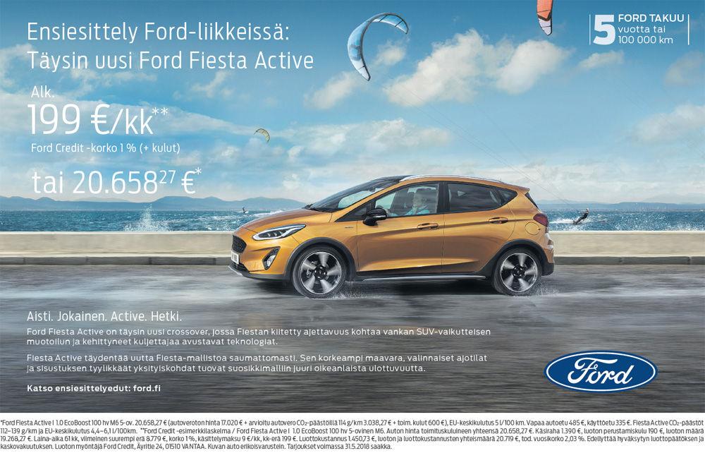 Täysin uusi Ford Fiesta Active