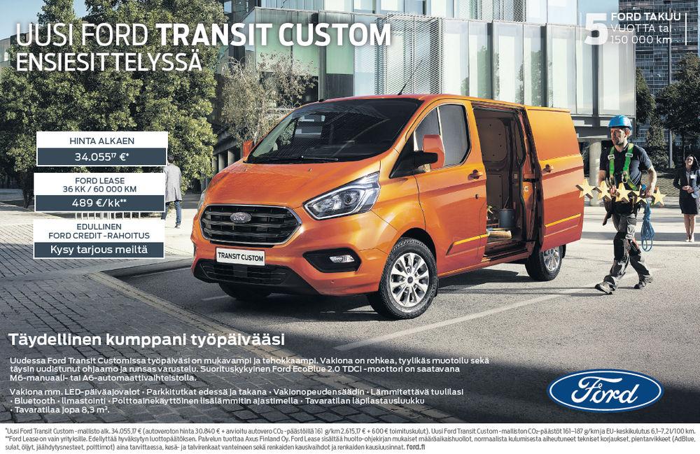 Täysin uusi Ford Transit Custom