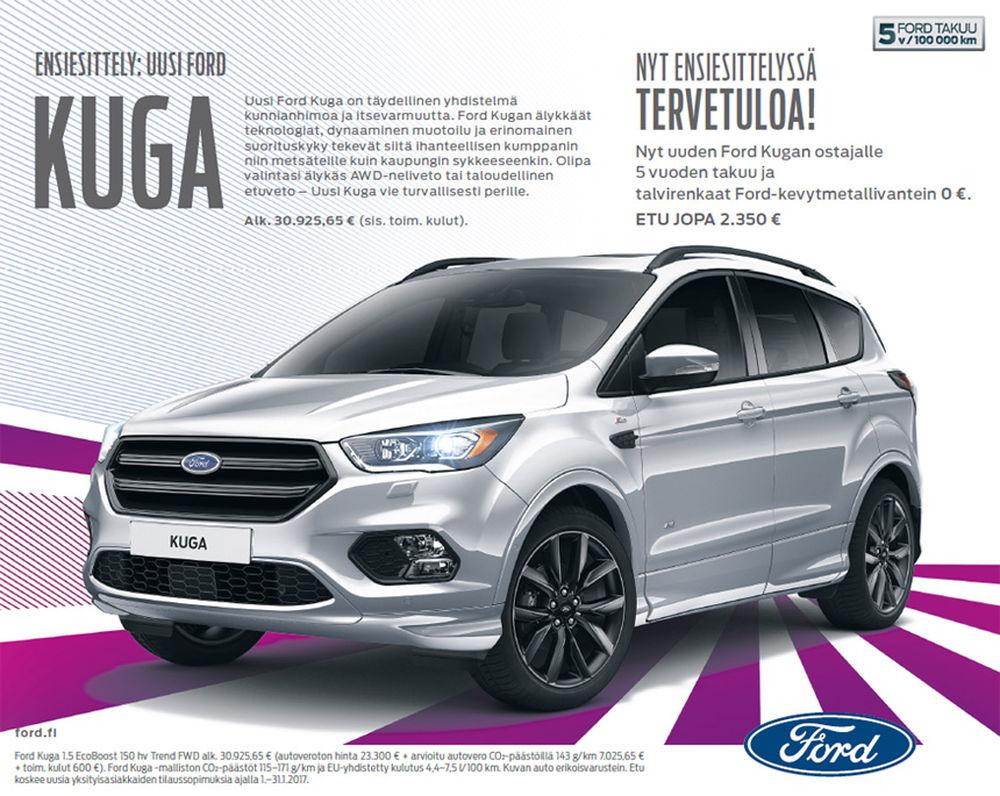 Ensiesittelyssä uusi Ford Kuga
